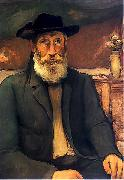 Wladyslaw slewinski Self-portrait in Bretonian hat oil painting